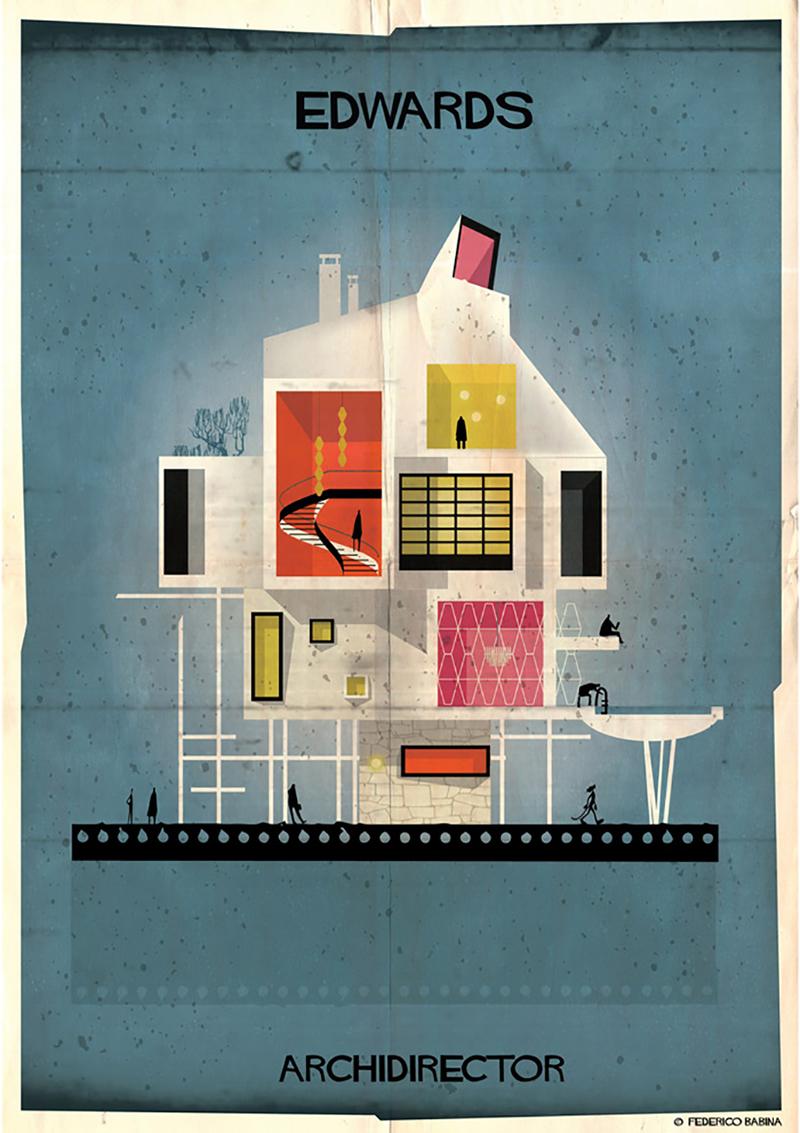 archidirectors ilustração federico babina diretores de cinema arquitetura