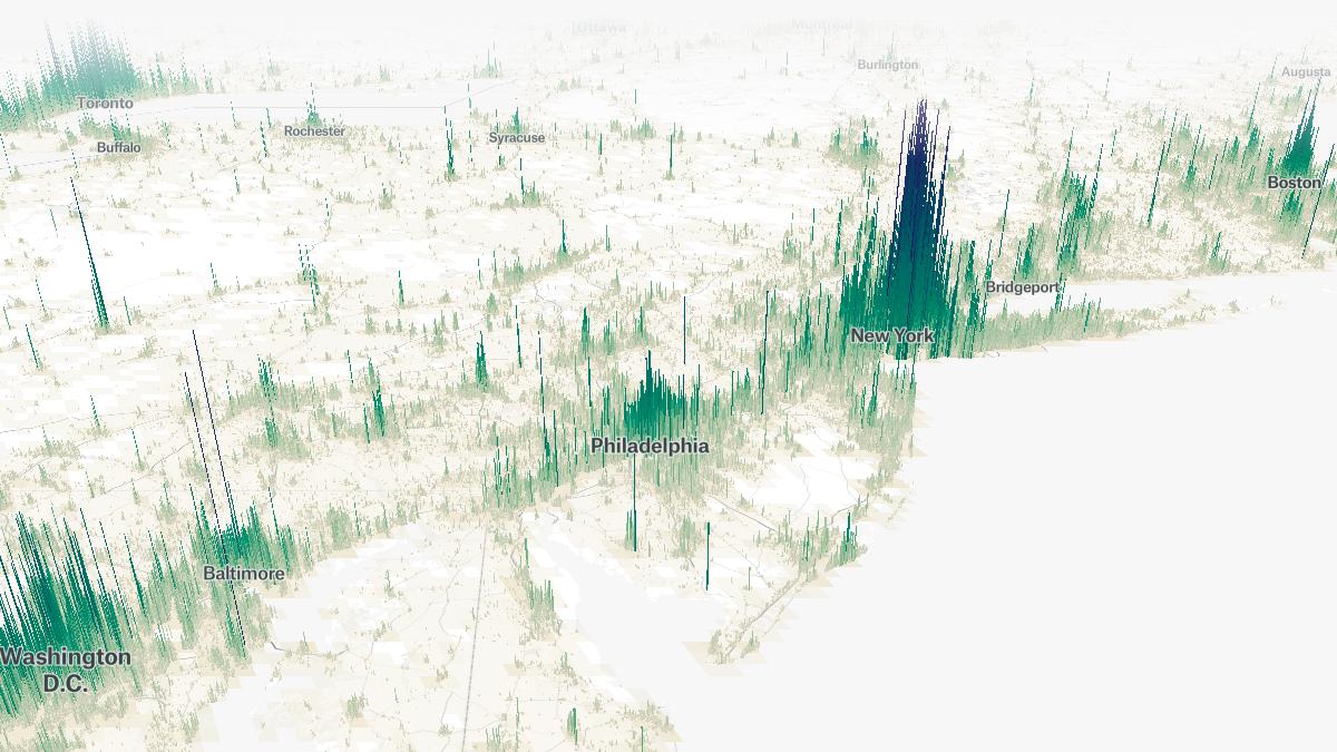 densidade populacional de todas as cidades